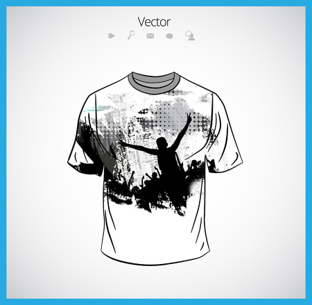 sides: T-shirt template