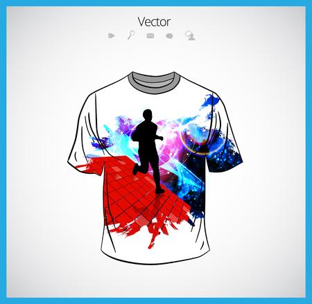 white sleeve: t-shirt template