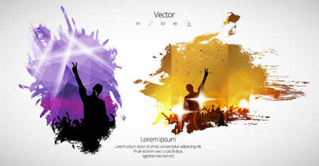 flayer: Dancing people, party background Illustration