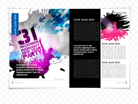 open magazine: brochure layout Illustration