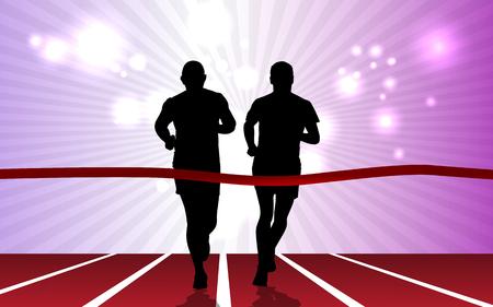 yogi: Sport. Marathon runner
