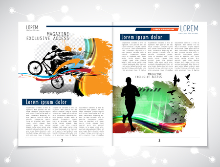 open notebook: brochure layout Illustration