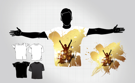T-shirt template. Easy to editable vector Illustration