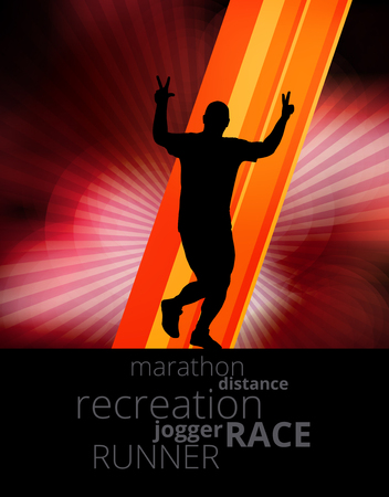 yogi: Marathon runner, vector Illustration