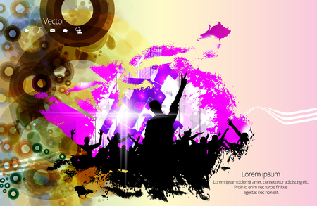 subwoofer: Dancing people, music event background