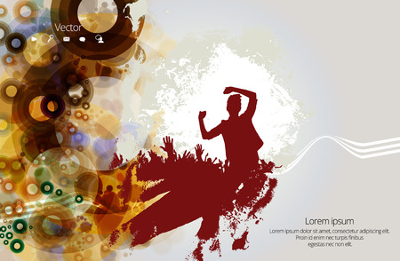 Dancing people, music event background