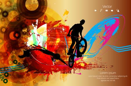 自転車ジャンパーのシルエット