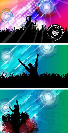 dancing club: Dancing people. Party