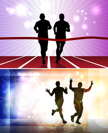 yogi: Sport. Marathon runners