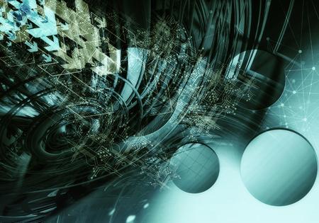 기술 배경의 3D 렌더링
