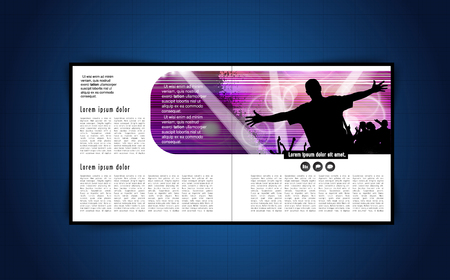 dancing club: brochure layout Illustration