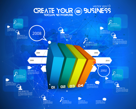 business: Infographic concept vector illustration