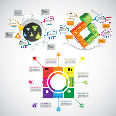 Infographics Templates On A Plain Background Royalty Free Cliparts