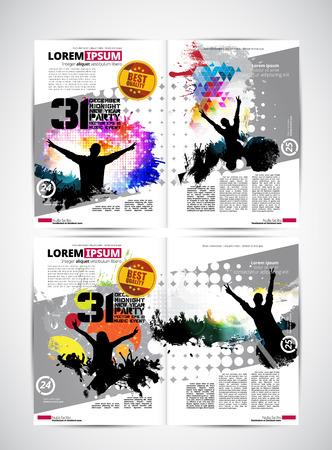 Music magazine, vector