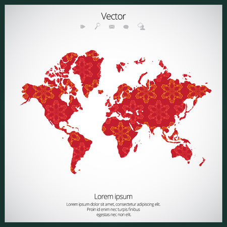 World Map illustration. Stock Illustratie