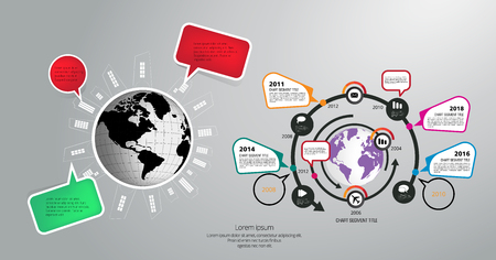Business infographic layout