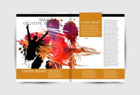 Magazine layout brochure design concept illustration