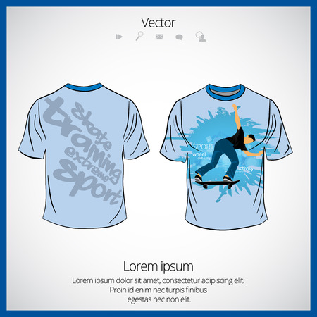 A t-shirt template  isolated on white background