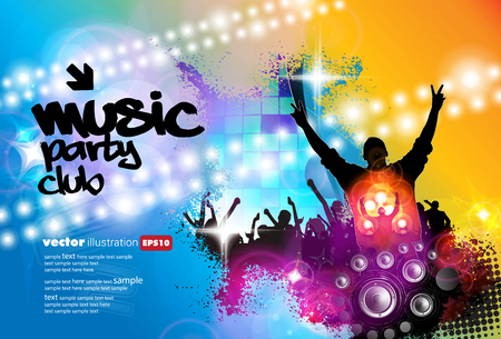 Big music event, background for banner or poster
