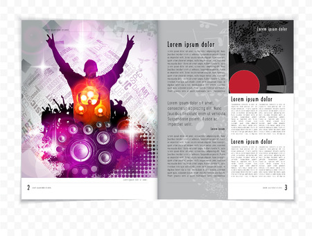 Abstract music magazine, brochure layout.