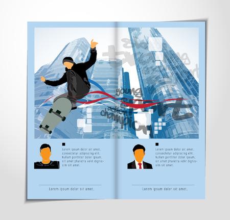 Brochure layout easy to editable, vector