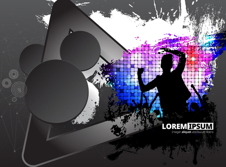 Big music event. Background ready for poster or banner