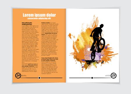 Brochure layout, vector illustration.