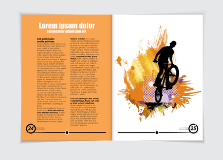 Brochure layout, vector illustration.