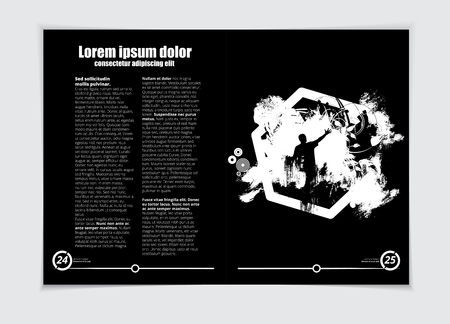 Music brochure layout