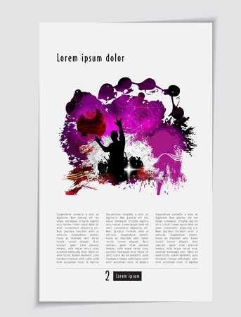 Music magazine, brochure layout easy to editable