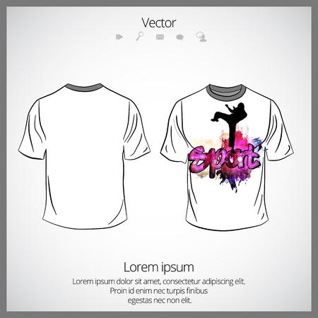 T-shirt sjabloon, vectorillustratie. Vector Illustratie