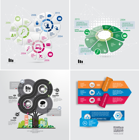 Business infographic layout, vector illustration.