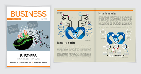 Business magazine, vector illustration.