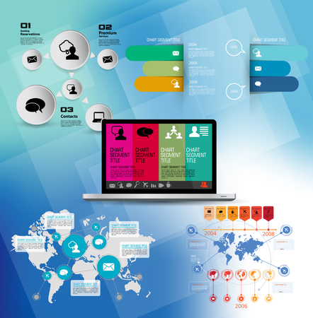 Abstract infographics template. Vector illustration.