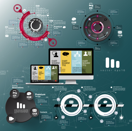 Infographic vector elements for business illustration.