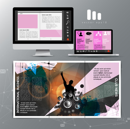 Corporate booklet or presentation templates. Easy for use in flyer, vector