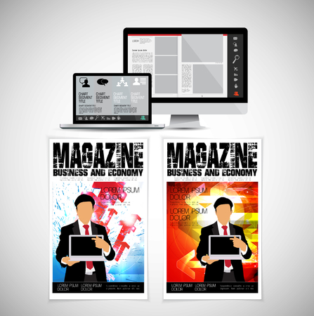 Template vector design. Ready for use for brochure, annual report or magazine Banque d'images - 110077919