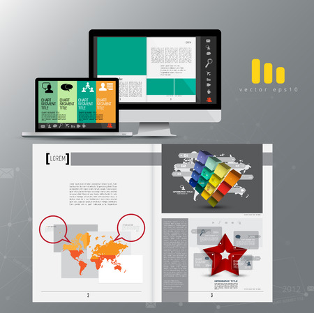 Business magazine, brochure layout easy to editable