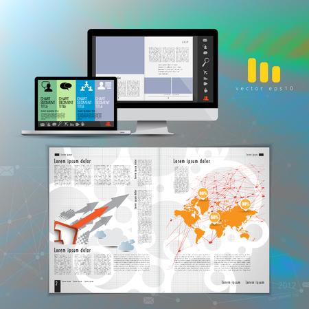 Business brochure layout, vector illustration