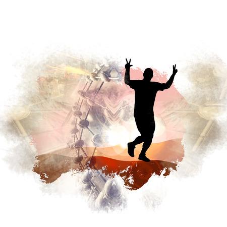 Illustration of a marathon runner Stock Photo