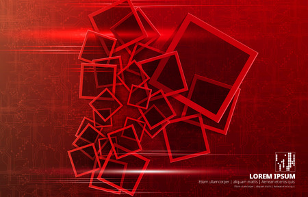 Abstract technology concept background, vector illustration Illustration