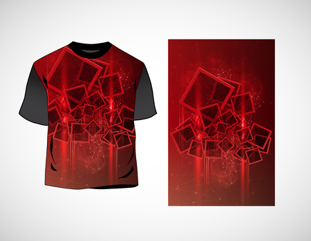 T-shirt template vector illustration.