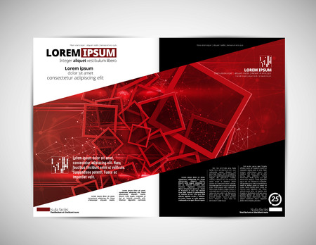 Corporate booklet or presentation templates. Easy for use in flyer, vector illustration.