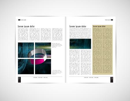 Corporate booklet or presentation templates. Easy for use in flyer, vector illustration Ilustração