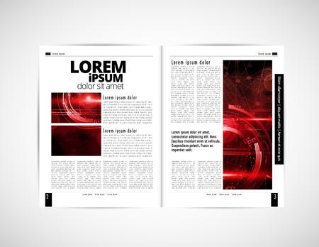 Corporate booklet or presentation templates. Easy for use in flyer, vector illustration Illusztráció