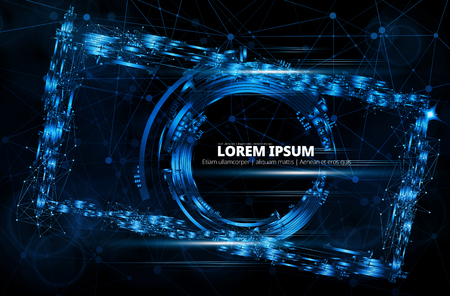 Abstract technology concept background ready for presentation, vector illustration