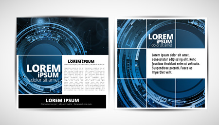 Graphics brochures design templates, vector illustration Ilustração Vetorial