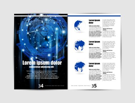 Impresión de revista, diseño de folletos fácil de editar