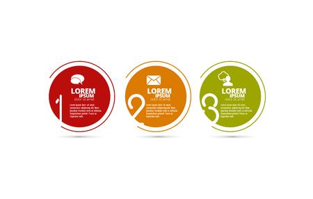 Infografik-Vektorelemente für Geschäftsillustration