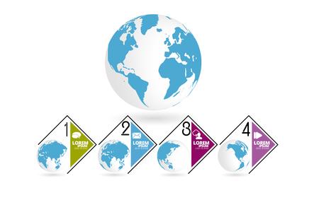 Business infographic elements data visualization vector design